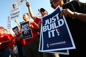 """Supporters at the """"Just Build It"""" Rally"""